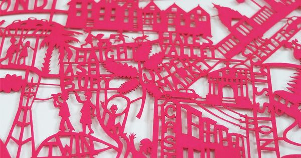 San Francisco Paper Cut Original | Pink | Famille Summerbelle