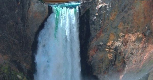 This is a waterfall along the Yellowstone River in what's known as the Grand Canyon of the Yellowstone in Yellowstone National Park in northwest Wyoming. Waterfall River Yellowstone NationalParks LowerFalls Wyoming GrandCanyon DestinationWest http://desti...