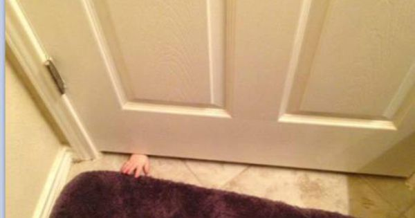 Nope! Always a child at the bathroom door in my house!