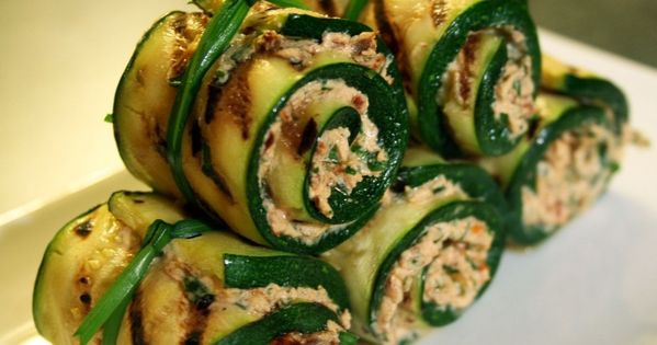 Zucchini rolls, Goat cheese and Goats on Pinterest