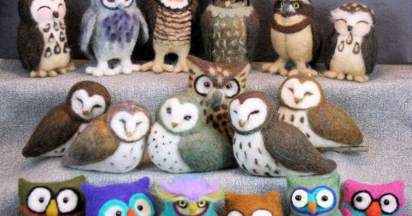 Whoo Gives a Hoot: Needle Felted Owls with Jeanne Harlan-Marriott craftartedu