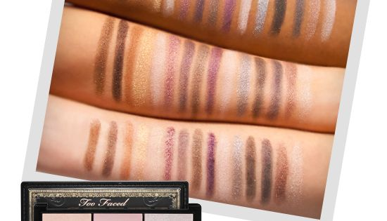 Too Faced's Return of Sexy Eye Shadow palette swatches via Sephora. Good