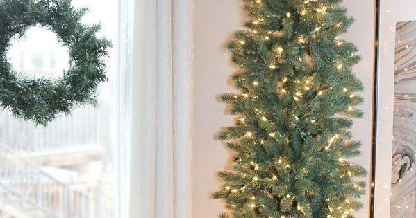 A pencil christmas tree style for narrow spaces pencil for Skinny trees for tight spaces