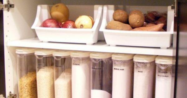 Kitchen dry goods storage