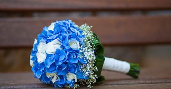 Wedding bouquets blue, Bridal bouquet, hydrangea Dallas wedding WeddingWishes.com