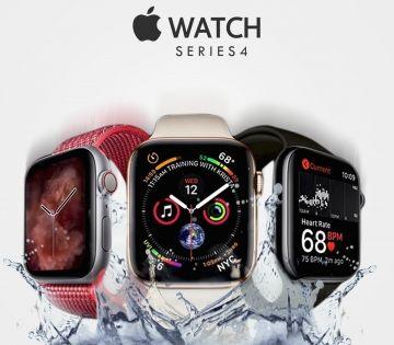 Apple Watch Series 4 With Splash Water Apple Watch Apple Watch Series Watches