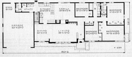 The Best 50s Ranch House Design So Far A Retro Renovation Re Run Ranch House Designs Ranch House Floor Plans Ranch