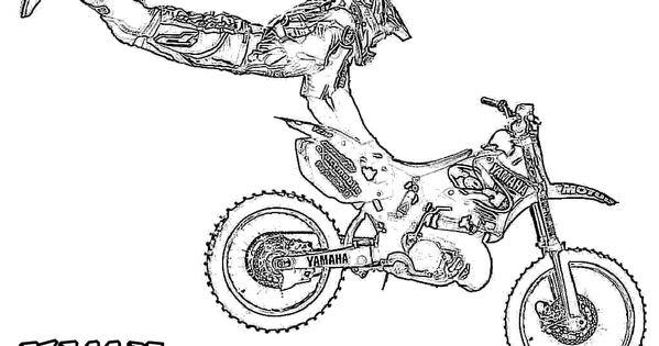 drawing of a dirt bike
