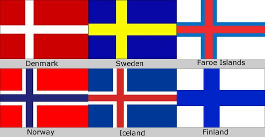 Scandinavian Countries Flag Jpg 531 274 Scandinavian Flag Scandinavian Countries