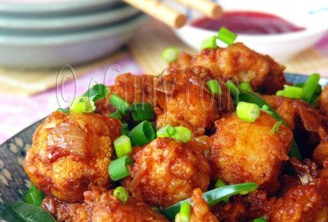 Gobi Manchurian/Cauliflower Fritters in Spicy Sauce Ingredients: 1 ...