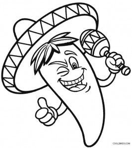 Printable Cinco De Mayo Coloring Pages For Kids Coloring Pages Coloring Pages For Kids Bear Coloring Pages