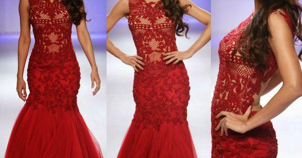 Malaika Arora Khan Ramp Walked In Bright Red Net Long Dress Designed By Sonakshi Raaj At Lakme