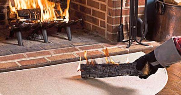 Flame Resistant Fiberglass Half Round Hearth Rugs Plow