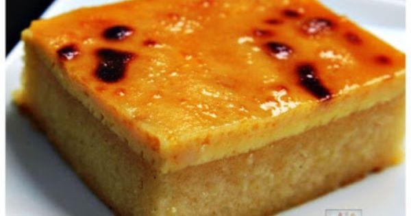 Cassava Cake With Creamy Custard Topping Recipe Panlasang Pinoy Recipes Recipe Cassava Cake Desserts Filipino Desserts