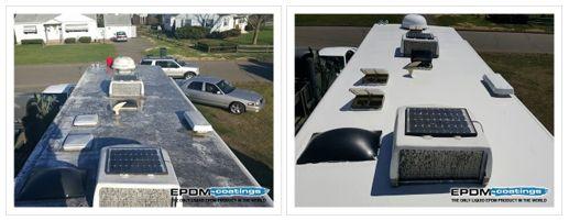 Coatings Liquid Epdm Rubber Roof Coatings For Roof Leaks Only Liquid Epdm In The World Roof Repair Rv Roof Repair Liquid Roof