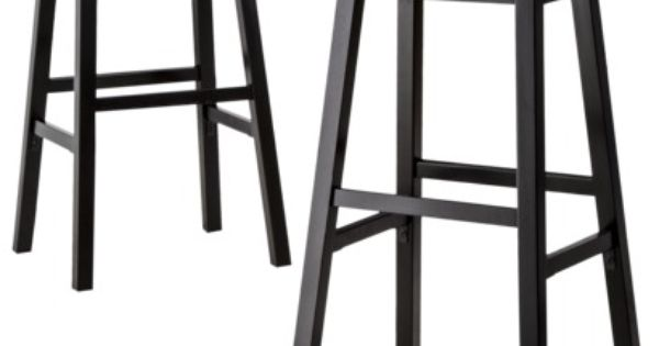 Threshold Trenton Saddle Bar Stool Set Of 2 For Kitchen