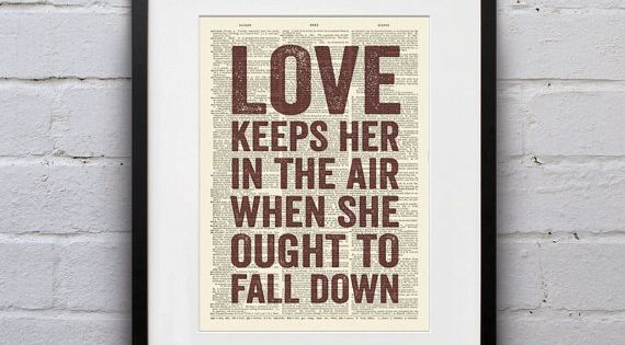Love Keeps Her In The Air When She Ought To Fall Down