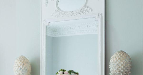 Miroir mirano blanc trumeau pinterest miroir for Miroir trumeau blanc