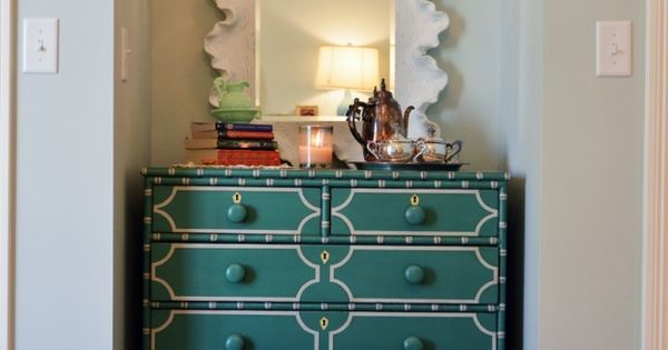 Turquoise Antique Dresser And Awesome Mirror Bedrooms