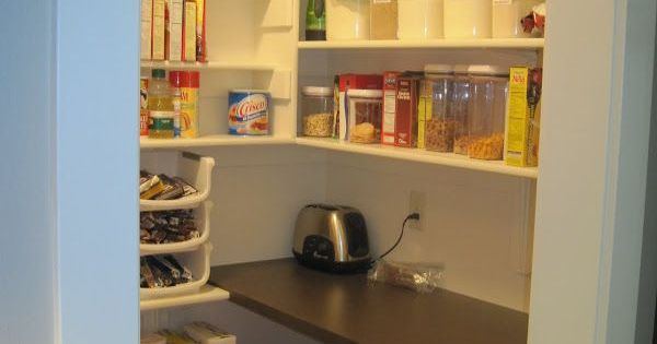 Small Kitchen Appliance Storage Pantry