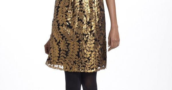 Goldleaf Cocktail Dress anthropologie-great holiday dress!