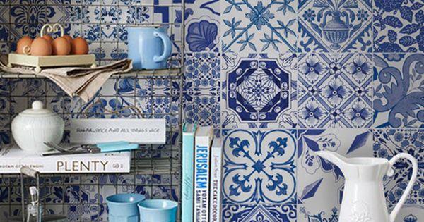 Portugues azul b adesivo azulejos portugueses cl ssicos for Azulejos df