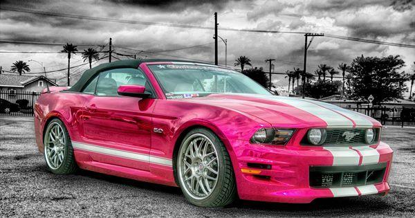 Hot pink mustang :)