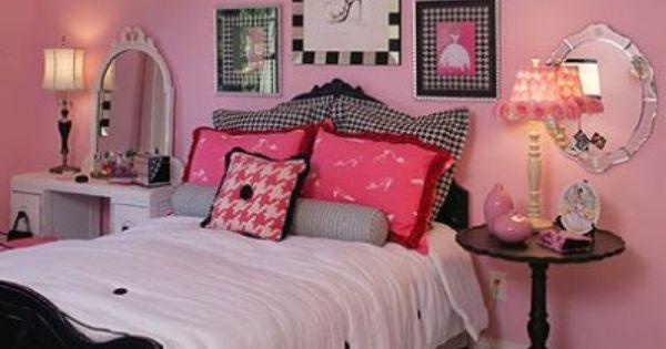 Habitaciones en rosa y negro para jovenes 07 400x327 for Decoracion hogar joven