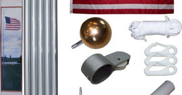 flag pole detail
