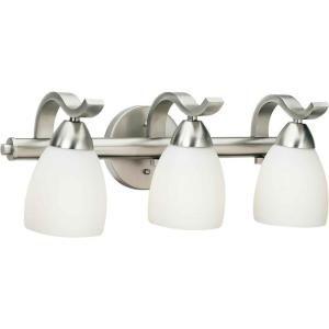 Forte Lighting Lucy Burton 3 Light Brushed Nickel Bath Vanity