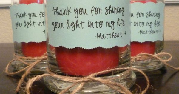 Volunteer Appreciation - Candle - Thank you for shining your light into
