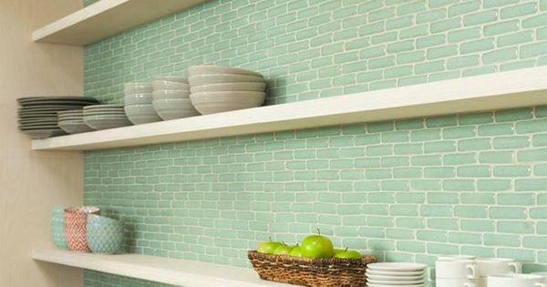 8 cocinas con azulejos verdes esmaltados 8 green tiled for Alternativa azulejos cocina