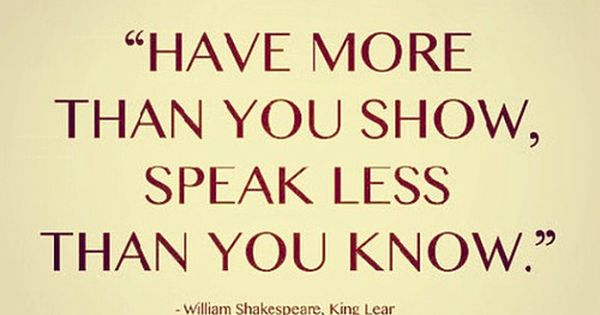 William Shakespeare quote from King Lear