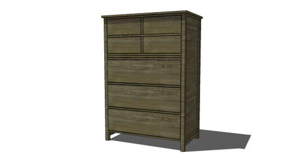 Free DIY Furniture Plans to Build a PB Inspired Farmhouse Tallboy Dresser