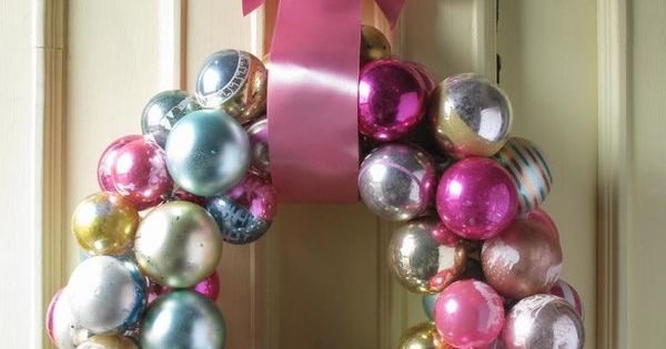 Easy DIY Ornament Wreath - All you need is a little hot