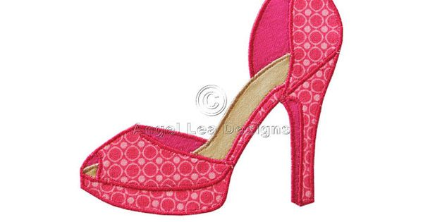 High Heel Paper Shoe Template High Heel Shoe Applique
