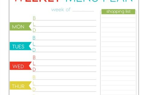 FREE Weekly Menu Planner Printable | Weekly meals, Menu template and ...
