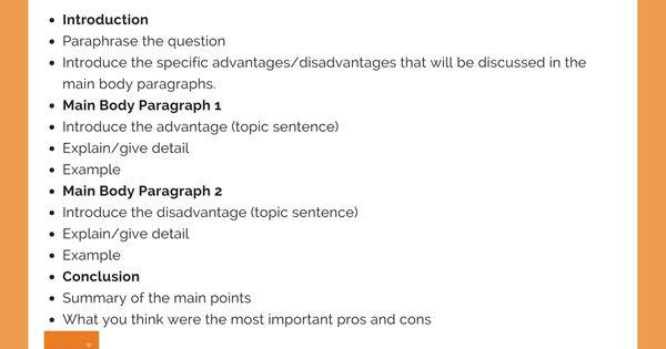 How To Write An Advantage Or Disadvantage Essay Ielt Achieve Writing Task Ielts Paraphrasing
