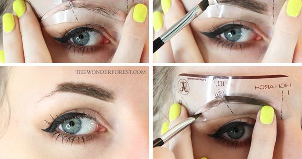 How To Use Eyebrow Stencils Like a Pro! eyebrows brows makeup