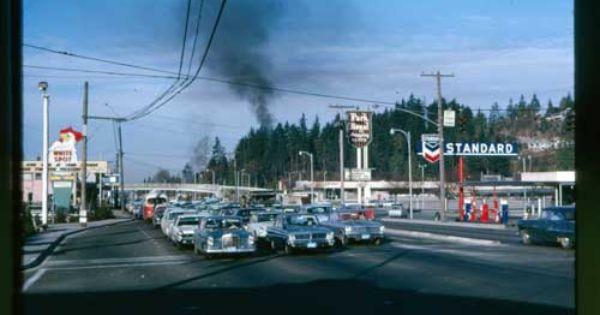 Park Royal West Vancouver Canada Circa 1960s White Spot Signage Richmond Vancouver West Coast Canada Vancouver Bc Canada