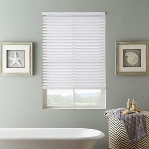 2 Selectwave Faux Wood Blinds From Selectblinds Com Aluminum Blinds Wood Blinds Bathroom Windows