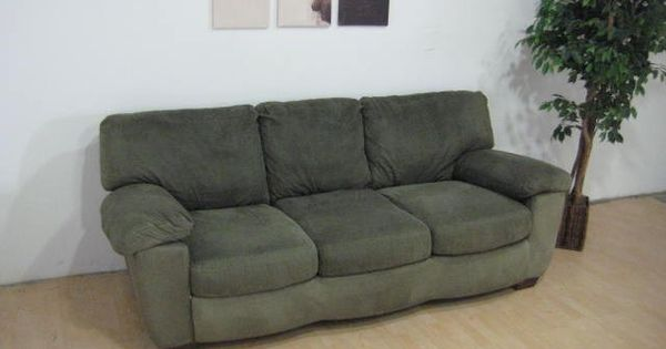 Green Microfiber Sofa By Ashley Furniture Thumbnail