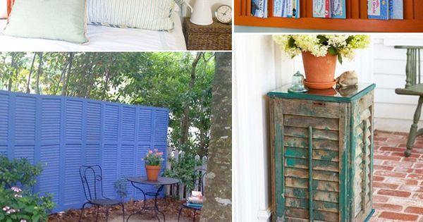 Repurposed shutters ideas