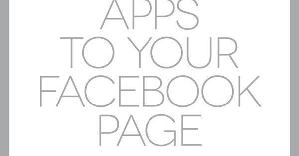Adding Apps on Facebook | Ciera Design | Brand Identity + Graphic