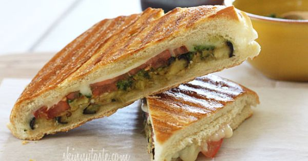 #Healthy Recipe / Eggplant Panini with Pesto |...