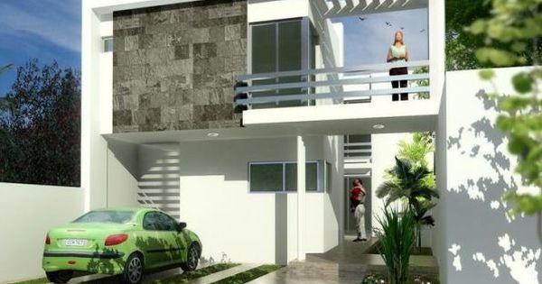 Fachadas de casas de dos pisos con cocheras abiertas - Cocheras abiertas ...