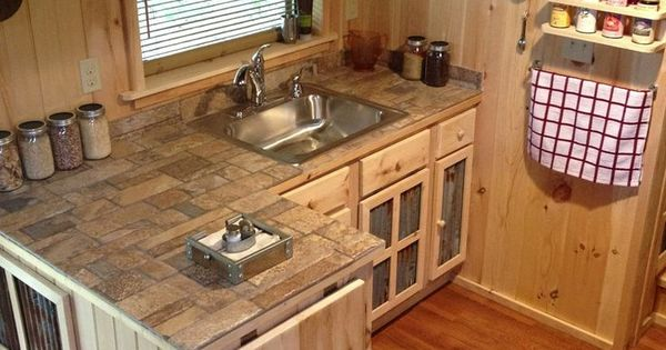 Hinged Counter Tops : Like the hinged counter at end mobile home kitchen