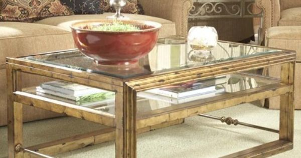 Westview Rectangular Cocktail Table With Glass Top And Shelf By Belfort Signature Northern