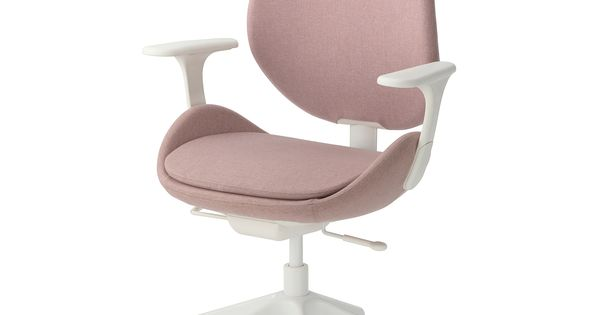 Hattefjall Office Chair With Armrests Gunnared Beige White