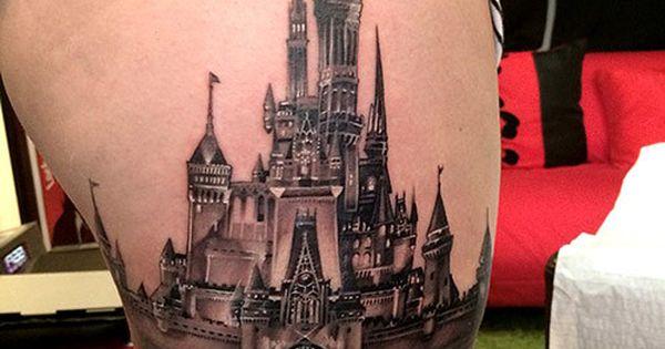 Awesome Disney Castle tattoo